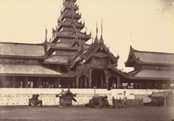 Front of King Theebaw's Palace, [Mandalay]. This picture was taken on the afternoon of the 28th Nov, the day on which the King was made prisoner
